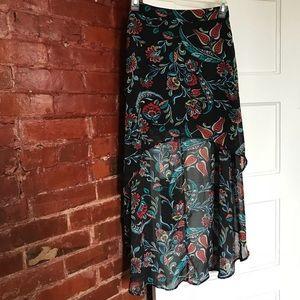 Floral high/low* skirt